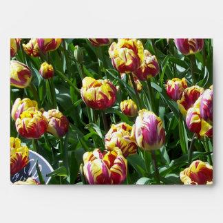 Yellow and Purple Tulips Envelope