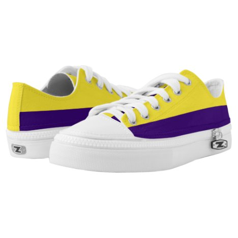 Yellow and Purple Two-Tone Lo-Top