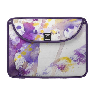 yellow and purple watercolor background sleeves for MacBook pro