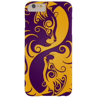 Yellow and Purple Yin Yang Cats Barely There iPhone 6 Plus Case