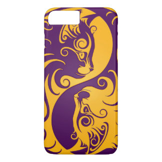 Yellow and Purple Yin Yang Cats iPhone 8 Plus/7 Plus Case
