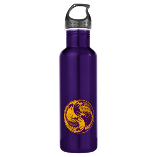 Yellow and Purple Yin Yang Scorpions Water Bottle