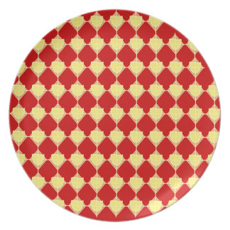 Yellow and Red Arrowhead Plate