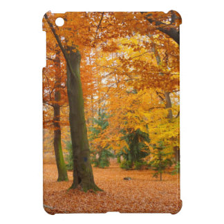 Yellow and Red Autumn Trees and Leaves iPad Mini Case