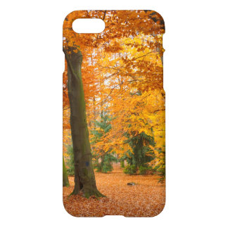 Yellow and Red Autumn Trees and Leaves iPhone 7 Case