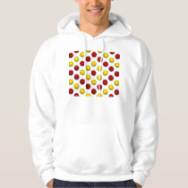 Yellow and Red Basketball Pattern Hoodie