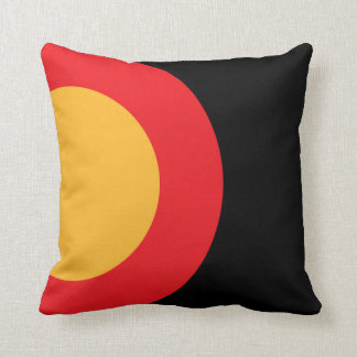 Yellow and Red Bold Modern Circle Shape Pick Color Pillow