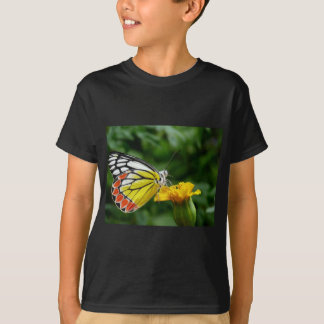 Yellow and Red Butterfly on Yellow Flower T-Shirt
