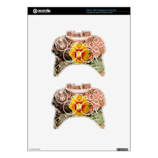 Yellow and red cactus flower in bloom xbox 360 controller decal