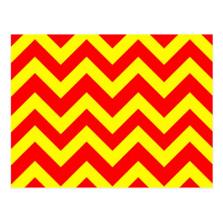 Yellow And Red Chevrons Postcard