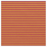 [ Thumbnail: Yellow and Red Colored Striped/Lined Pattern Fabric ]