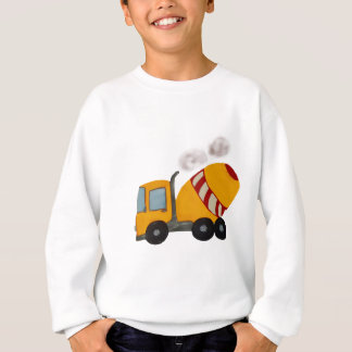 Yellow and red concrete mixer sweatshirt