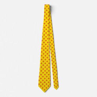 Yellow and Red Diamond Geometrical 2 Neck Tie