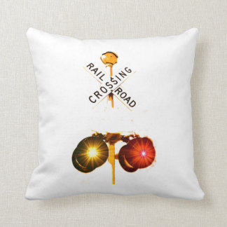 Yellow And Red Flashing Lights Throw Pillow