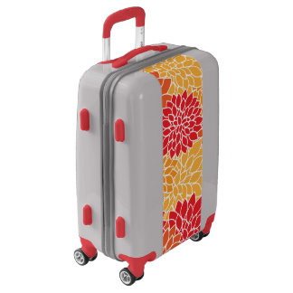 Yellow and Red Floral Luggage