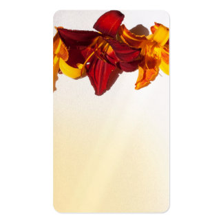 Yellow And Red Flower Design Business Card
