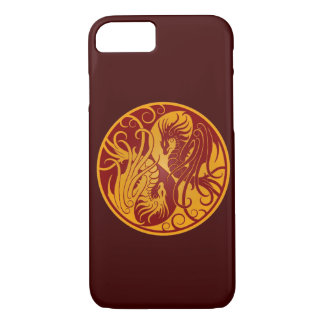 Yellow and Red Flying Yin Yang Dragons iPhone 8/7 Case