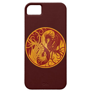 Yellow and Red Flying Yin Yang Dragons iPhone SE/5/5s Case