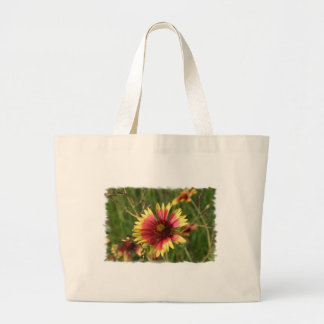Yellow and Red Gaillardia Flower Cavnas Bag