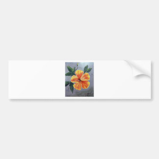 Yellow and Red Hibiscus Bumper Sticker