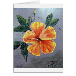 Yellow and Red Hibiscus Card