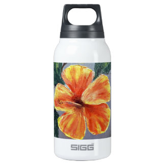 Yellow and Red Hibiscus Insulated Water Bottle