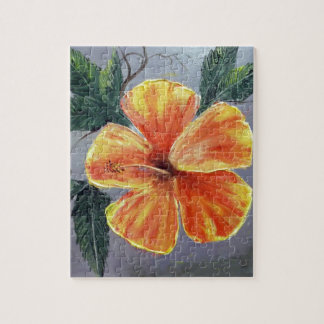 Yellow and Red Hibiscus Jigsaw Puzzle
