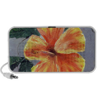 Yellow and Red Hibiscus Mp3 Speaker