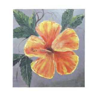 Yellow and Red Hibiscus Notepads
