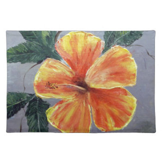 Yellow and Red Hibiscus Placemats