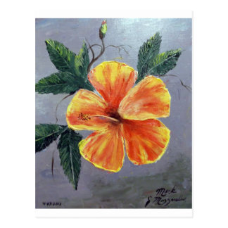 Yellow and Red Hibiscus Postcard
