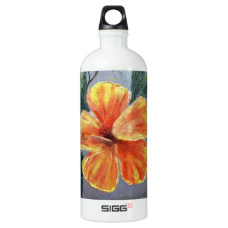 Yellow and Red Hibiscus SIGG Traveler 1.0L Water Bottle