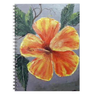 Yellow and Red Hibiscus Spiral Note Books