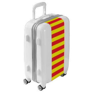 Yellow and Red Horizontal Stripes Luggage
