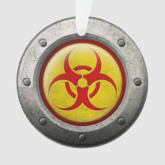 Yellow and Red Industrial Biohazard Steel Effect