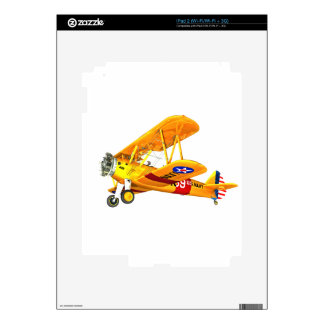 Yellow and Red Military Training Biplane Flying Skin For iPad 2