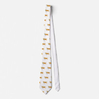 Yellow and Red Military Training Biplane Tie