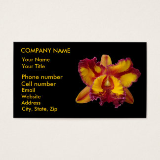 Yellow and Red Orchid Business Card
