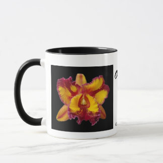 Yellow and Red Orchids Mug