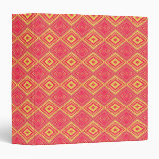 Yellow and Red Pattern 3 Ring Binder