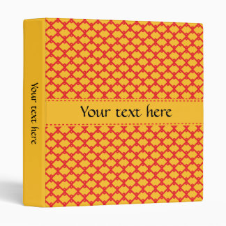 Yellow and Red Pattern Vinyl Binders