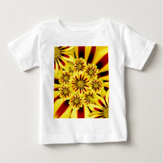 Yellow and Red Striped Gerbera Daisy Sunflower Baby T-Shirt