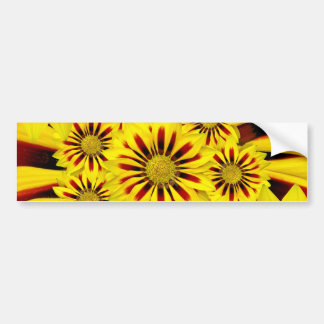 Yellow and Red Striped Gerbera Daisy Sunflower Bumper Stickers