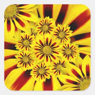 Yellow and Red Striped Gerbera Daisy Sunflower Sticker