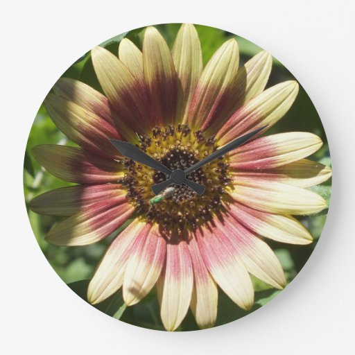 Yellow and Red Sunflower Wall Clock