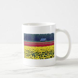 Yellow And Red Tulip Farm flowers Coffee Mugs