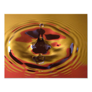 Yellow and Red Water Drop Card