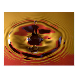 Yellow and Red Water Drop Postcard