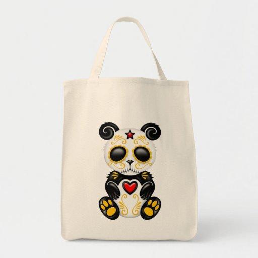 Yellow and Red Zombie Sugar Panda Bear Bags