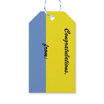Yellow and Sky Blue Congratulations Gift Tag
